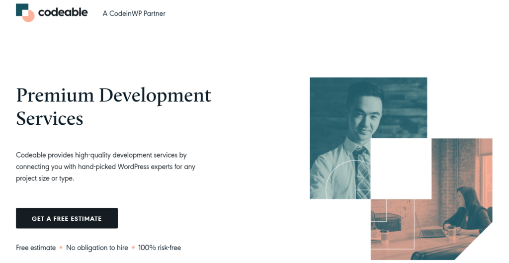 Codeable WordPress support banner