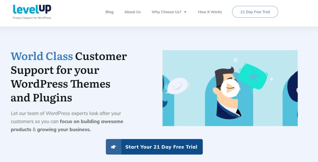 LevelUp WordPress support banner