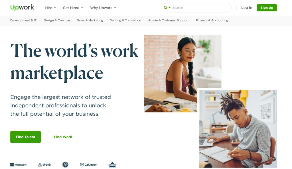 UpWork WordPress support banner