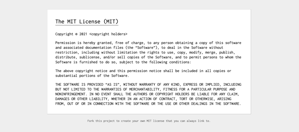 The MIT license in full.